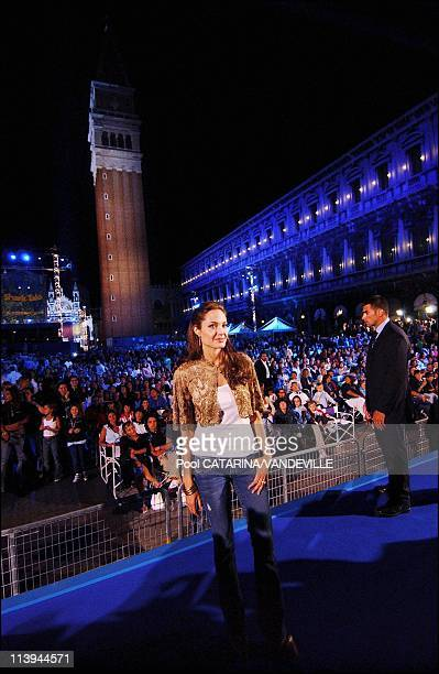 World Premiere of the animation movie Shark Tale in St Mark's Square during the 61st Venice Film festival In Venice Italy On September 10...