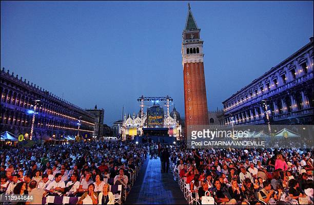 World Premiere of the animation movie Shark Tale in St Mark's Square during the 61st Venice Film festival In Venice Italy On September 10 2004