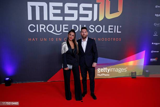 World Premiere of the show of the Cirque du Soleil Messi10 on 10th October 2019 in Barcelona Spain