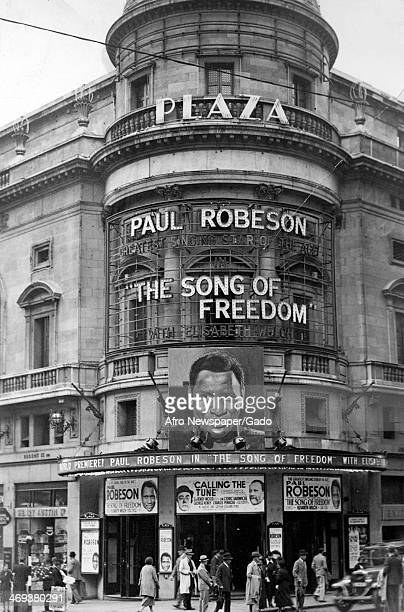 World premiere of the singer and actor Paul Robeson's film The Song of Freedom at the Plaza Theatre in London London United Kingdom 1936