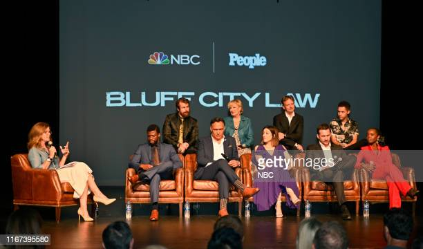 LAW World Premiere Screening Pictured Julie Jordan Moderator People Magazine Michael Luwoye Josh Kelly Jimmy Smits Jayne Atkinson Caitlin McGee Dean...