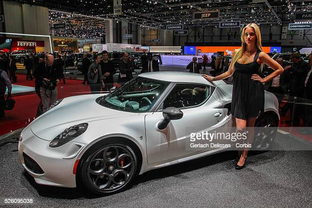 World Premi��re of the new Alfa Romeo 4C as shown at the 83rd Geneva International Motor Show March 6 2013