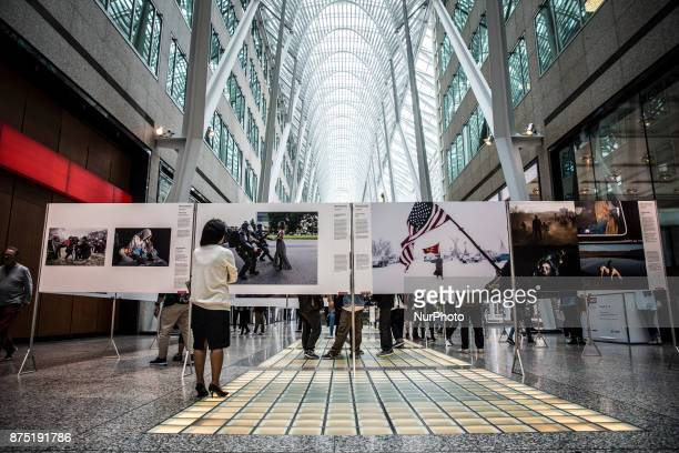 World Press Photo Exhibition at Allen Lambert Gallery in Toronto Canada on October 6 2017