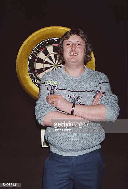 World Professional Darts champion Eric Bristow of England poses for a portrait on 1 December 1983 in London United Kingdom