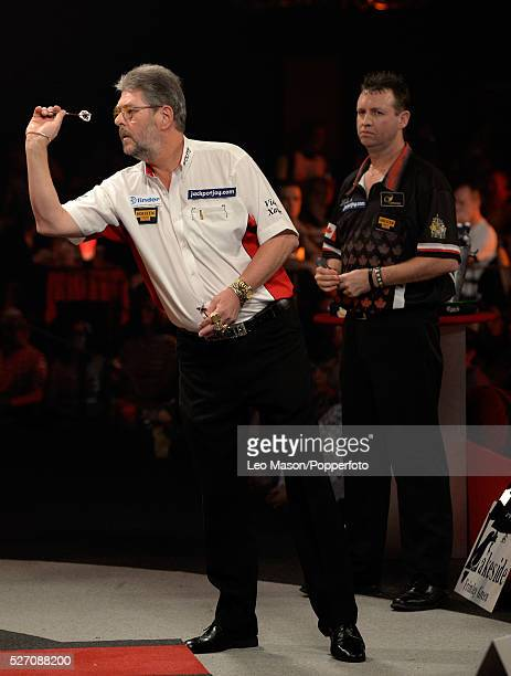 World Professional Darts Championships Lakeside Country Club Frimley Green UK Ist round action David Cameron CAN v Martin Adams ENG