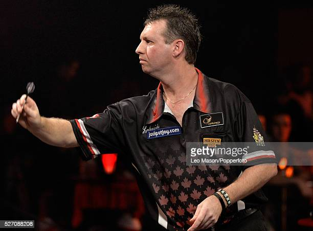 World Professional Darts Championships Lakeside Country Club Frimley Green UK Ist round action David Cameron CAN