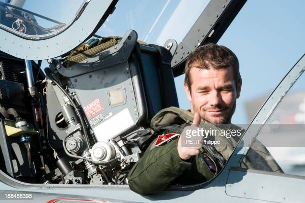 World Rally champion Sebastian Loeb aboard a Mirage 2000 at the French Air Force airbase on November 13 2012 in NancyOcheyFrance