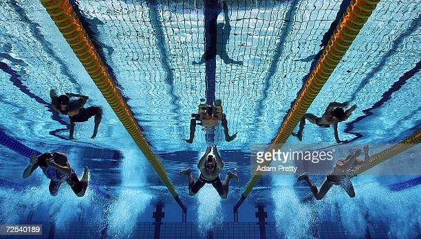 World Record holder Brendan Hansen of USA competes in the men's swimming 100m breastroke heat on August 14, 2004 during the Athens 2004 Summer...