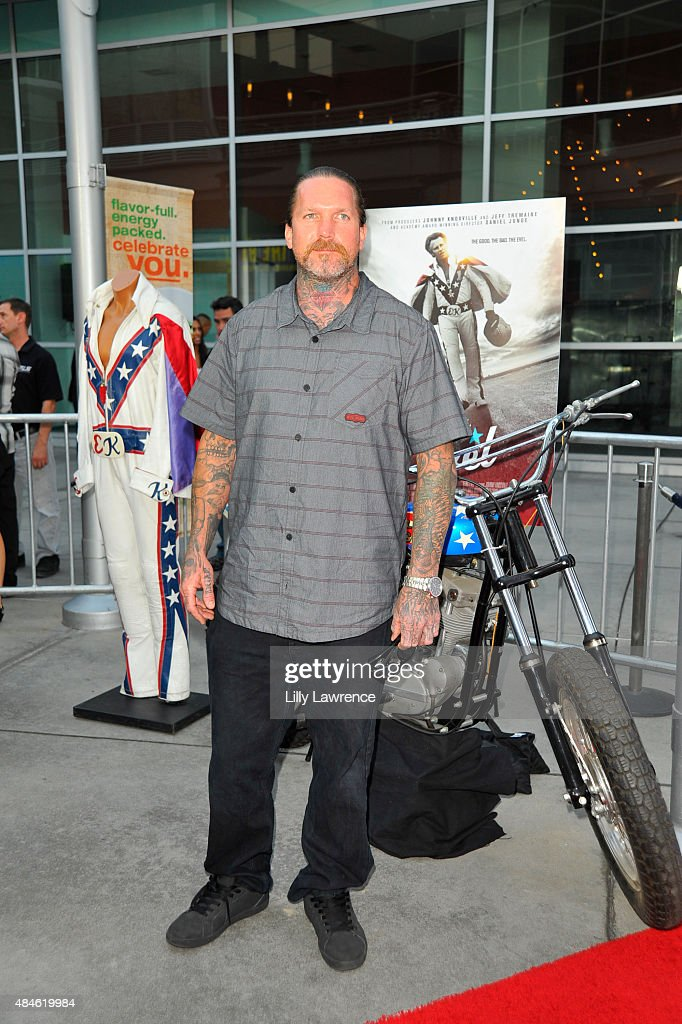 World record motorcylcist Seth Enslow attends the Premiere