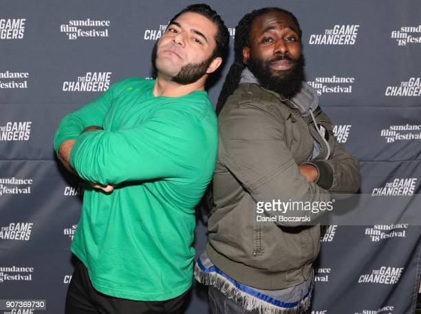 World RecordHolding Strongman Patrik Baboumian and Olympic weightlifter Kendrick Farris attend 'The Game Changers' Sundance Premiere After Party on...