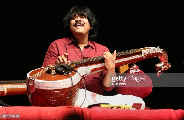 World renowned Indian veena artist Rajhesh Vaidhya performs in Richmond Hill Ontario Canada on March 18 2018 Rajhesh Vaidhya was the winner of the...