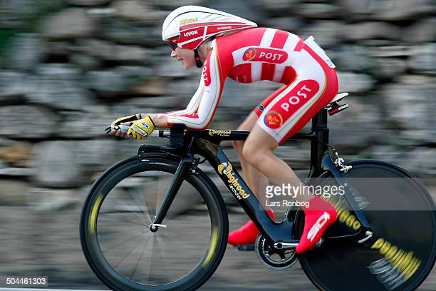 World Road Championships Women Timetrial Bronze for Linda Villumsen Denmark © Frontzonesport