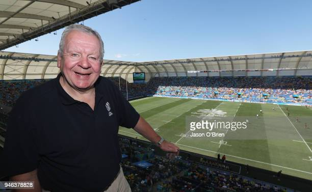World Rugby Chairman Bill Beaumont pictured during Rugby Sevens on day 11 of the Gold Coast 2018 Commonwealth Games at Robina Stadium on April 15...
