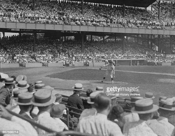 World Series Baseball Game New York Giants versus Washington Senators Griffith Stadium Washington DC USA National Photo Company October 1924