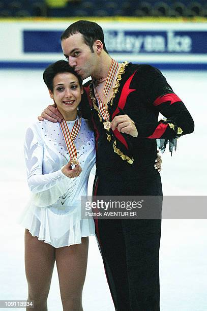 World Skating Championship On March 29Th 2000 In Nice France Pairs 3Rd Rank Sarah AbitbolStephane Bernadis
