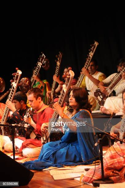 World Strings Rare Raga perform on stage at the Purcell Room on October 25 2009 in London England