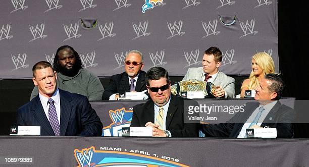 World Strongest Man Mark Henry Emilio Estefan WWE Champion Mike 'The Miz' Mizanin WWE Diva Kelly Kelly former WWE Champion John Cena Commissioner...