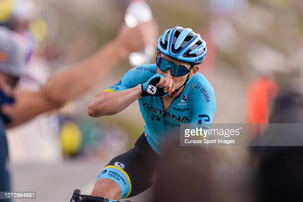 World Team Astana Miguel Ángel López of Colombia crosses the finishing line for winning the Stage 17 of 107th Tour de France 2020 on September 16,...