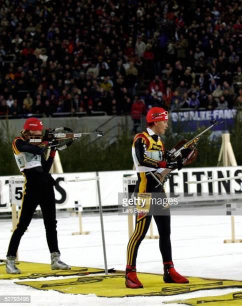 World Team Challenge Gelsenkirchen Schiessen in der Arena Auf Schalke Sabrina BUCHHOLZ und Kati WILHELM/beide GER