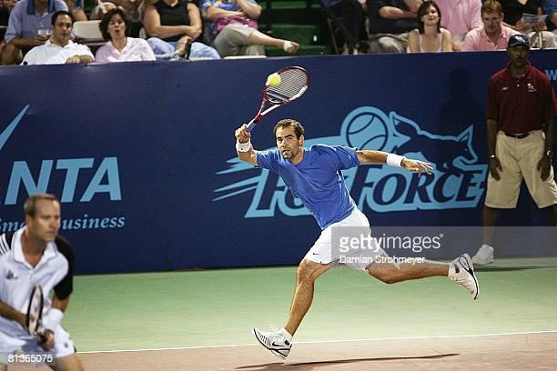World Team Tennis Newport Beach Breakers Pete Sampras in action vs Hartford FoxForce Avon CT 7/21/2006