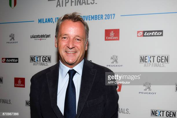 ATP World Tour Executive Chairman and President Chris Kermode is pictured on November 6 2017 in Milan during the Media day prior to the first edition...