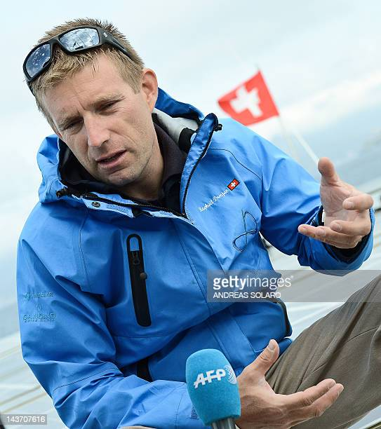 STORY World tour on a solarpowered boat to beat climate change by Sonia Logre Swiss Raphaël Domjan initiator and expedition leader of PlanetSolar...