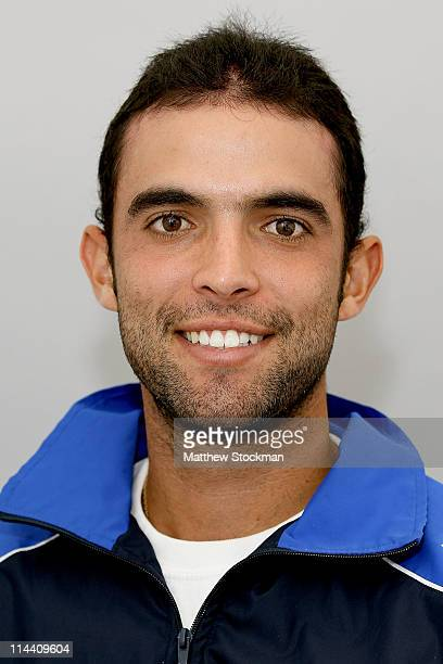 World Tour player Juan Sebastian Cabal poses for a portrait at Roland Garros on May 19 2011 in Paris France