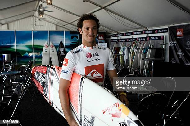 World Tour sophomore Jordy Smith of South Africa heads out for his Round 3 heat during the Quiksilver Pro Gold Coast presented by LG Mobile on March...