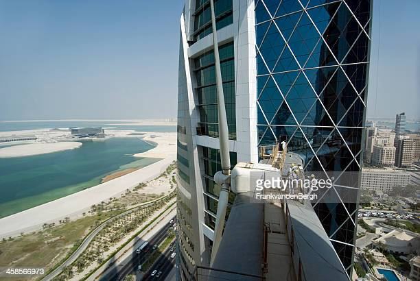 world trade center maintanance - manama stock pictures, royalty-free photos & images