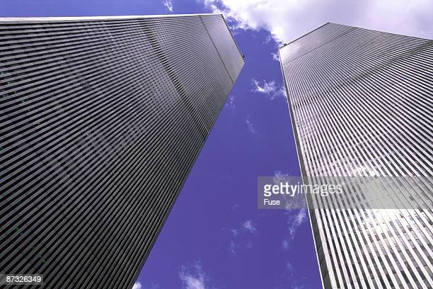 world trade center, manhattan, new york, usa - twin towers manhattan stock photos and pictures