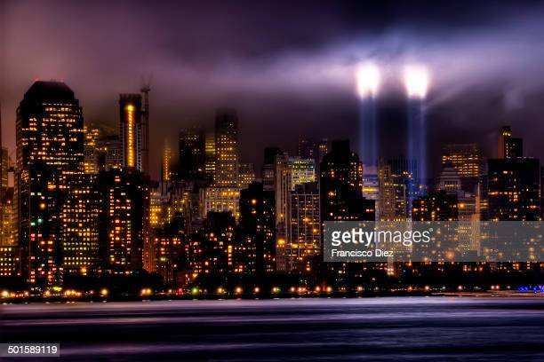 CONTENT] World Trade Center Memorial New York City Manhattan New York NYC NY Landscape Skyline Buildings Brooklyn Brooklyn Bridge City Night Water...