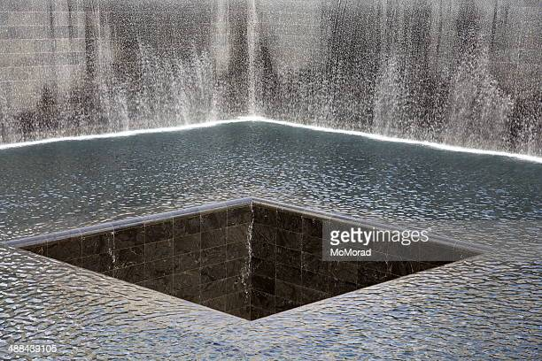world trade center memorial - falling water stock photos and pictures