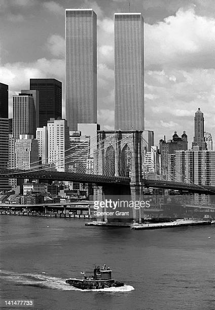world trade center, new york 1976 - twin towers manhattan stock photos and pictures