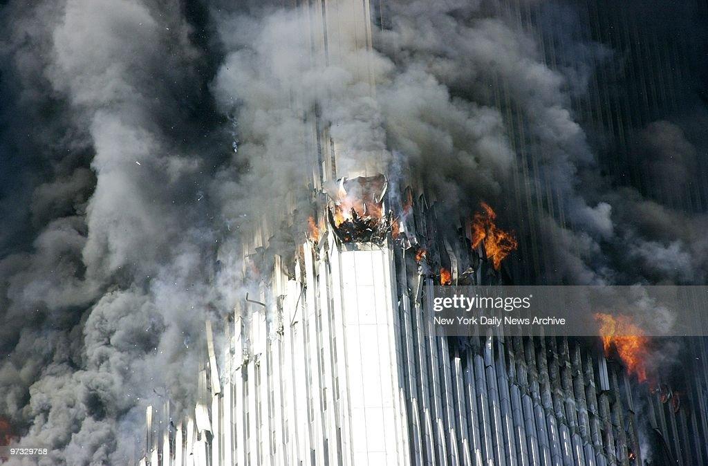 World Trade Center Terrorist Attack Smoke And Flames Erupt