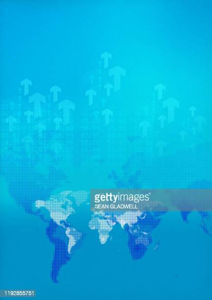 world trade graphic - image manipulation stock pictures, royalty-free photos & images