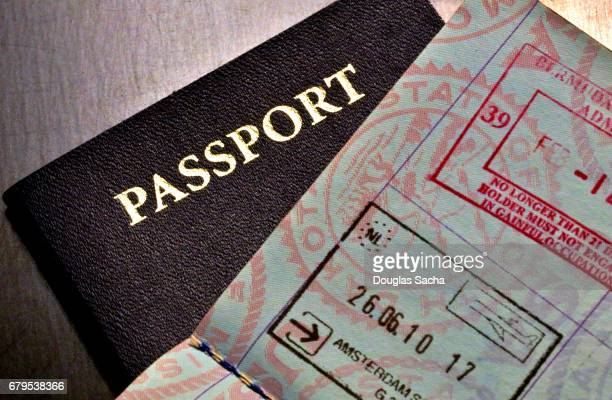 world travelers passport - emigration and immigration stock pictures, royalty-free photos & images