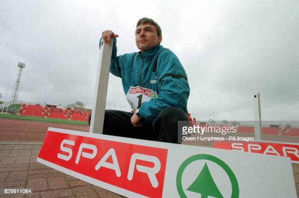 World Tripple jump record holder Jonathan Edwards during a photocall at Gateshead Stadium today where he helped announce a threeyear sponsorship deal...