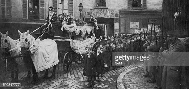 World War 1 1914 1918Aerial bombardment of Paris The funeral of Lucien and Marcelle Lapie two children in the suburbs of Paris killed by German bombs...