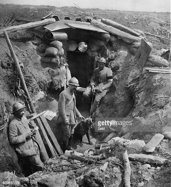 World War 1 1914 1918Battle of the AisneTrench in the forward position control of the Chemin des Dames 1917