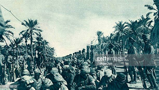 British Advance in Mesopotamia Turkish prisoners captured during progress of Kut Relief Force April 1916 Present day Iraq