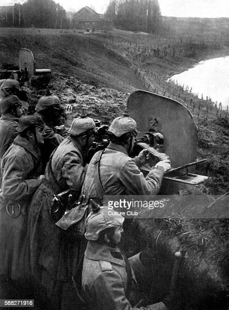 German defensive machine gun position in Darkehmen Present day Ozyorsk Kaliningrad Oblast Russia 1914/1915