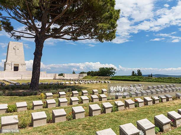 world war 1 lone pine cemetery, anzac cove, gallipoli, turkey, asia - anzac cove stock pictures, royalty-free photos & images