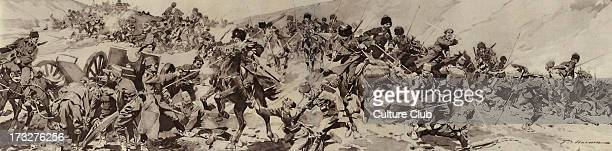Russian Army in Armenia 1916 Circassian cossacks charging at Turkish troops