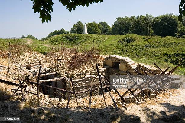 world war 1 trench near verdun - world war i stock pictures, royalty-free photos & images