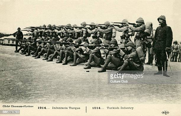 Turkish Infantry 1914 French postcard series 1914 Army of the Ottoman Empire fighting on side of Central Powers