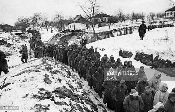 World war 2 1st and 2nd ukrainian front german pows taken during the korsunshevchenkovsky offensive january or february 1944