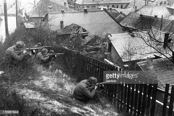 World war 2 3rd ukrainian front street fighting in budapest hungary january 1945