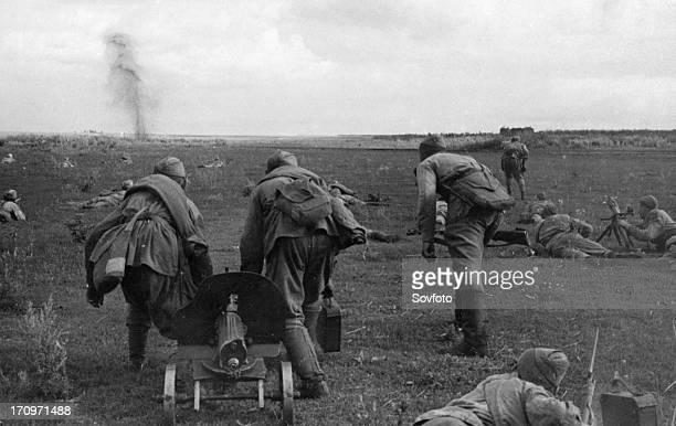 World war 2 august 1943 the kharkov area a unit taking up a new line ukraine