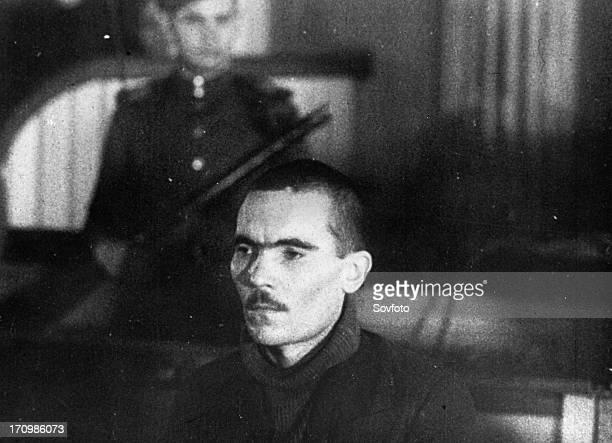 World war 2 december 15 still from a film on the kharkov trial produced by artkino russian traitor mikhail petrovich bulanov