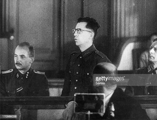World war 2 december 18 still from a film on the kharkov trial produced by artkino reinhard retzlaw making his last plea he asked for mercy because...